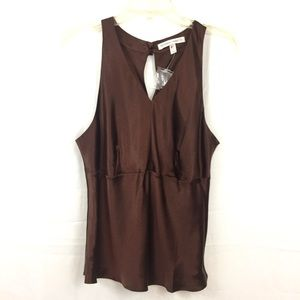 Victoria Secret brown silk sleeveless blouse